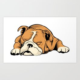 English Bulldog | Dog Lover Art Print