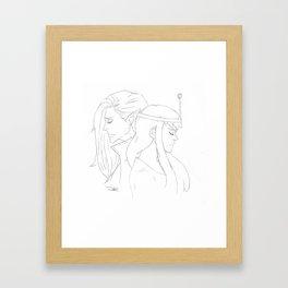 Bubbline Framed Art Print