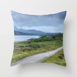 Road in the Highlands Throw Pillow