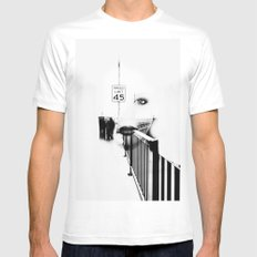 Speed Limit 45 MEDIUM White Mens Fitted Tee