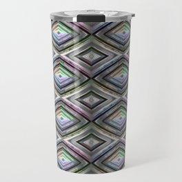 Bright symmetrical rhombus pattern Travel Mug