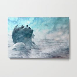 Swim under clouds Metal Print