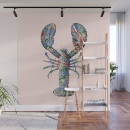 FLORAL LOBSTER Wall Mural