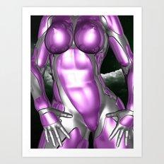 Metal Maiden Art Print