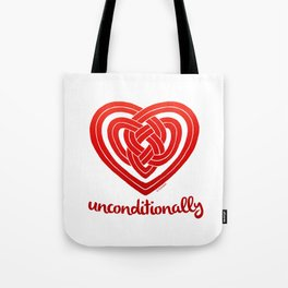 UNCONDITIONALLY in red Tote Bag