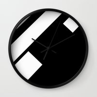 stripe Wall Clocks featuring stripe by noirblanc777