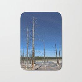 Lodgepole Pines In Geyser Basin Bath Mat