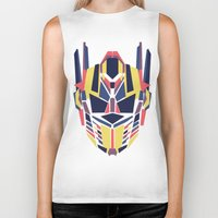 transformer Biker Tanks featuring Prime by Fimbis