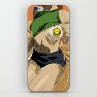 boob iPhone & iPod Skins featuring peek a boo(b) by Jayesh Jayman Joshi