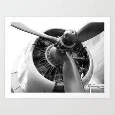 Douglas Dakota engine Art Print
