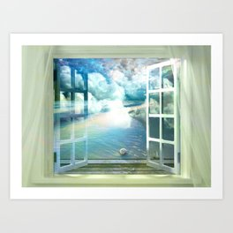 BEDROOM BREEZE Art Print