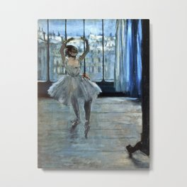 Edgar Degas - Dancer In Front Of A Window Metal Print