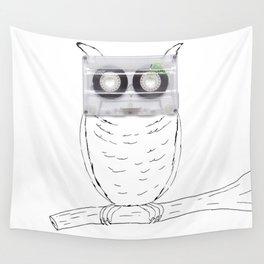 Owl cassette Wall Tapestry