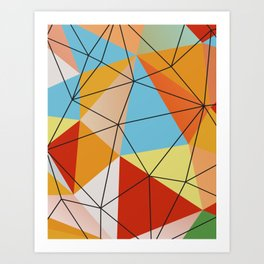Nouveau Geometric I Art Print