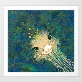 I Wish I Were A Peacock Art Print
