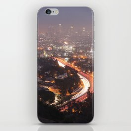 Los Angeles at Night, Fine Art Night Landscape Photography iPhone Skin