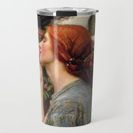 John William Waterhouse, My Sweet Rose, 1908 Travel Mug