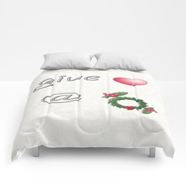 Give Love At Christmas Comforters