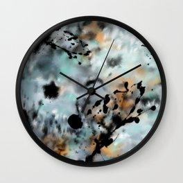 Abstract Ink Splats Wall Clock