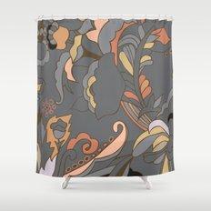 Color Blocking | Floral Shapes Shower Curtain
