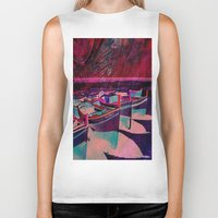 boats Biker Tanks featuring vintage boats by  Agostino Lo Coco
