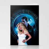 true blood Stationery Cards featuring True Blood - Sookie & Eric by Jaime Gervais