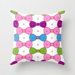 Bows or Bikinis - Optical illusion Throw Pillow