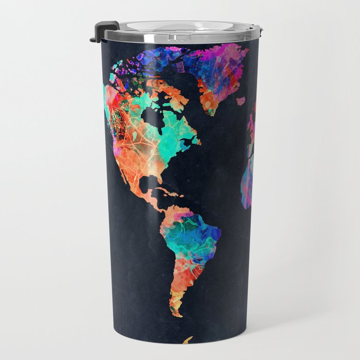 World map travel mug by bekimart society6 world map travel mug gumiabroncs Choice Image