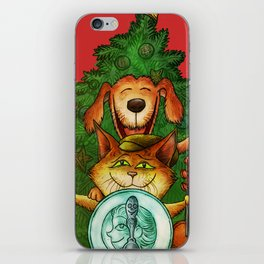"""""""Hey, Diddle, Diddle at Chistmas"""" (Mother Goose Retold-Front cover) iPhone Skin"""
