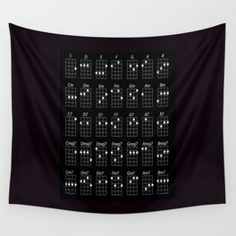 Ukulele chords Wall Tapestry