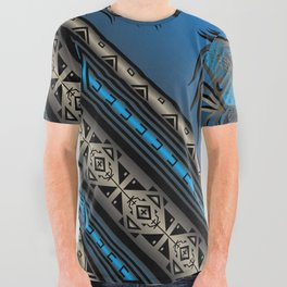 Horse Nation (Blue) All Over Graphic Tee