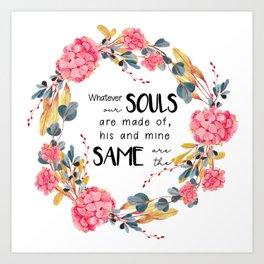 Romantic Emily Bronte Quote Art Print