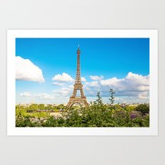 Cloud 9 - Eiffel Tower Art Print