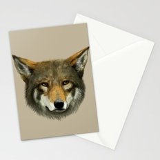 Wolf face Stationery Cards