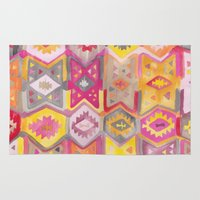 kilim Area & Throw Rugs featuring Kilim Me Softly in Pink by Bee&Lotus