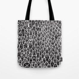 Pingu Ville Black Version Tote Bag