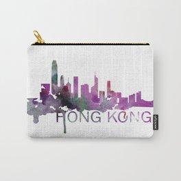 Hong Kong Skyline Watercolor Art Print Carry-All Pouch