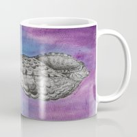 shell Mugs featuring shell by Diane Nicholson