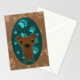 Bear with Paw Prints Stationery Cards