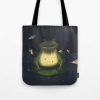 fireflies Tote Bags featuring Fireflies by Ken Coleman