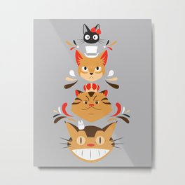 Studio Kitty Metal Print