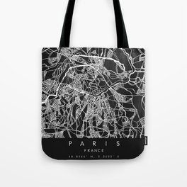 Map of Paris Tote Bag
