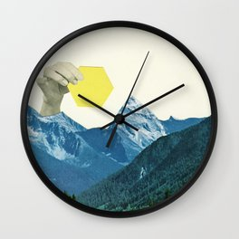 Moving Mountains Wall Clock