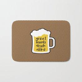 Beer - Great Minds Bath Mat