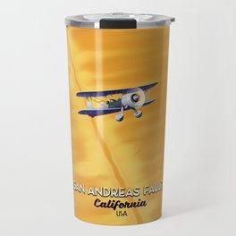 San Andreas fault California Travel Mug