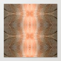 gray pattern Canvas Prints featuring pink-gray pattern by giol's