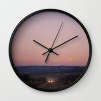 chicken Wall Clocks featuring chicken by Ben Renschen