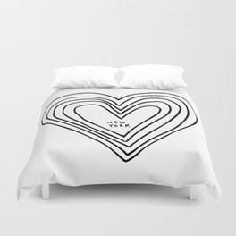 All Day. Every Day. Heartbeats for NYC. Duvet Cover