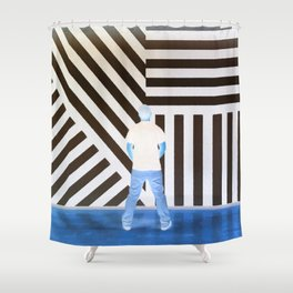 The Ghost at the Museum Shower Curtain