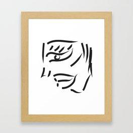 profile minimal sketch Framed Art Print